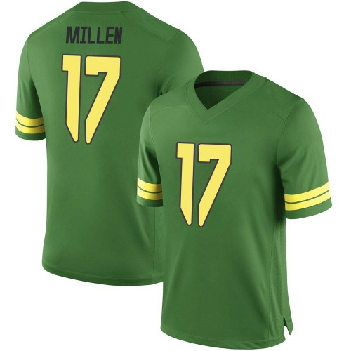 Men's Nike Cale Millen Oregon Ducks Game Green Football College Jersey