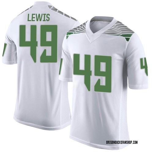 Men's Nike Camden Lewis Oregon Ducks Limited White Football College Jersey