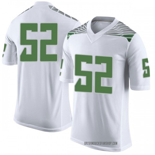 Men's Nike Cody Shear Oregon Ducks Limited White Football College Jersey