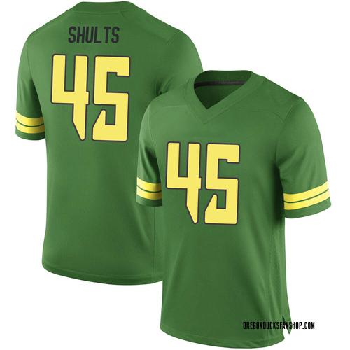 Men's Nike Cooper Shults Oregon Ducks Game Green Football College Jersey