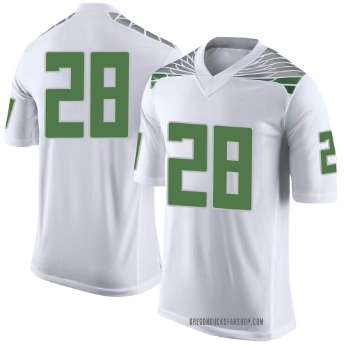 Men's Nike Cross Patton Oregon Ducks Limited White Football College Jersey
