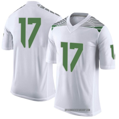 Men's Nike Daewood Davis Oregon Ducks Limited White Football College Jersey