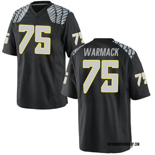 Men's Nike Dallas Warmack Oregon Ducks Game Black Football College Jersey