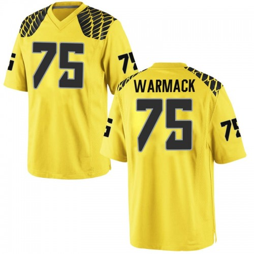 Men's Nike Dallas Warmack Oregon Ducks Game Gold Football College Jersey