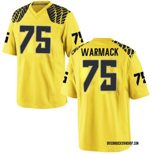 Men's Nike Dallas Warmack Oregon Ducks Replica Gold Football College Jersey