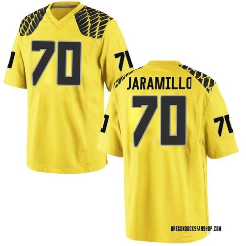 Men's Nike Dawson Jaramillo Oregon Ducks Game Gold Football College Jersey
