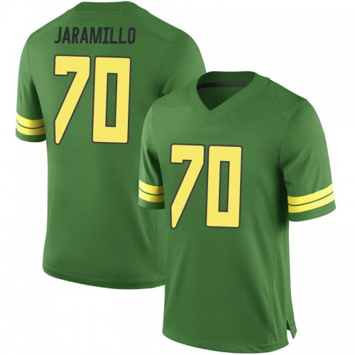 Men's Nike Dawson Jaramillo Oregon Ducks Game Green Football College Jersey
