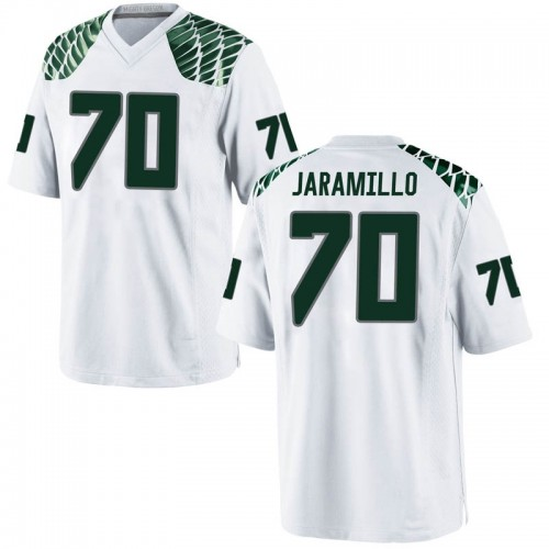 Men's Nike Dawson Jaramillo Oregon Ducks Game White Football College Jersey