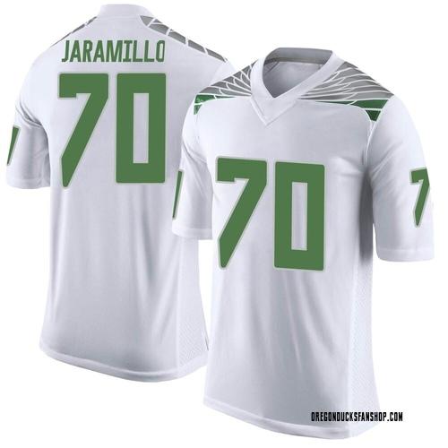 Men's Nike Dawson Jaramillo Oregon Ducks Limited White Football College Jersey