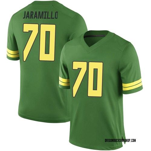 Men's Nike Dawson Jaramillo Oregon Ducks Replica Green Football College Jersey