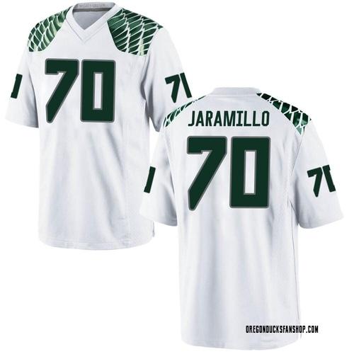 Men's Nike Dawson Jaramillo Oregon Ducks Replica White Football College Jersey