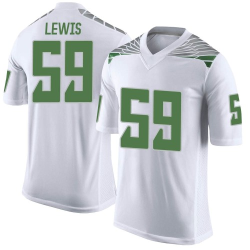 Men's Nike Devin Lewis Oregon Ducks Limited White Football College Jersey