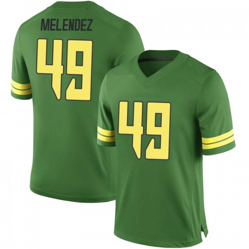 Men's Nike Devin Melendez Oregon Ducks Game Green Football College Jersey