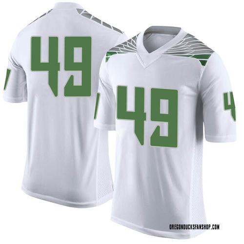 Men's Nike Devin Melendez Oregon Ducks Limited White Football College Jersey