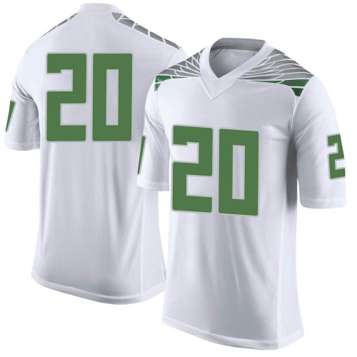Men's Nike Dontae Manning Oregon Ducks Limited White Football College Jersey