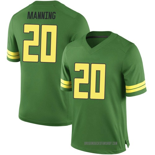 Men's Nike Dontae Manning Oregon Ducks Replica Green Football College Jersey