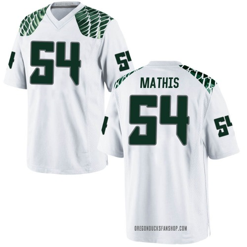 Men's Nike Dru Mathis Oregon Ducks Game White Football College Jersey