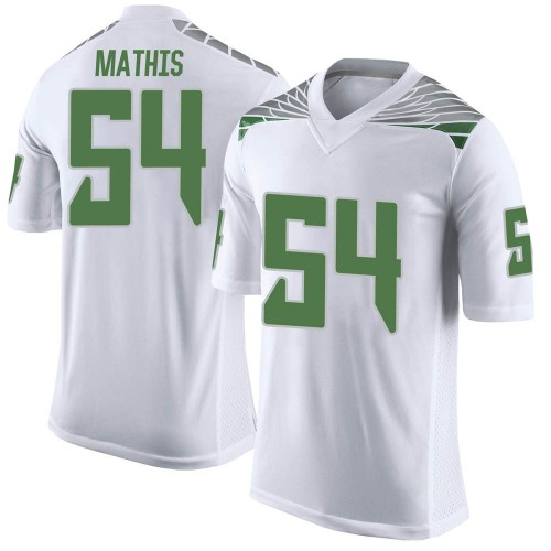 Men's Nike Dru Mathis Oregon Ducks Limited White Football College Jersey