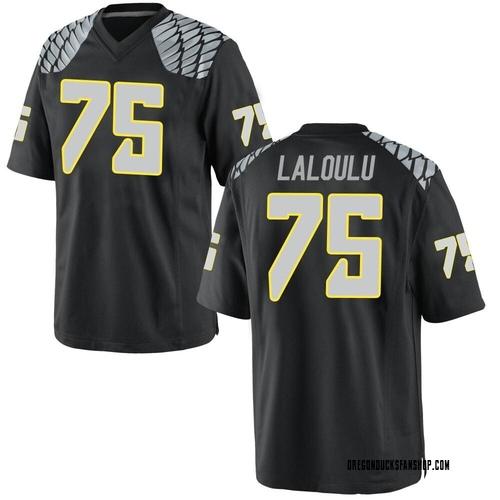 Men's Nike Faaope Laloulu Oregon Ducks Game Black Football College Jersey