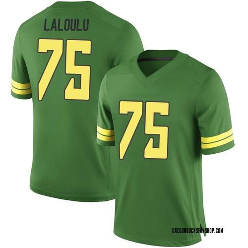 Men's Nike Faaope Laloulu Oregon Ducks Game Green Football College Jersey