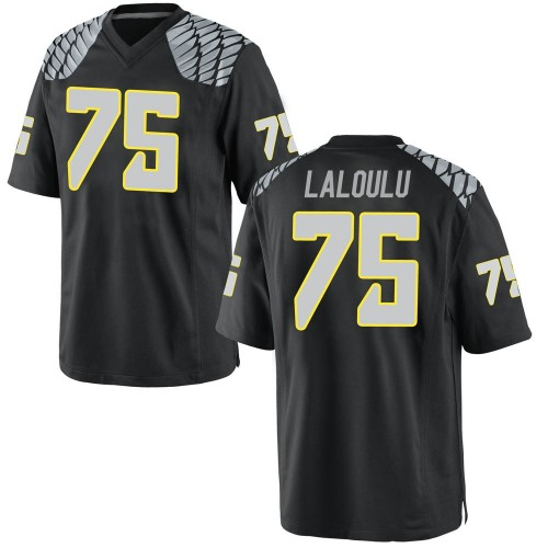 Men's Nike Faaope Laloulu Oregon Ducks Replica Black Football College Jersey