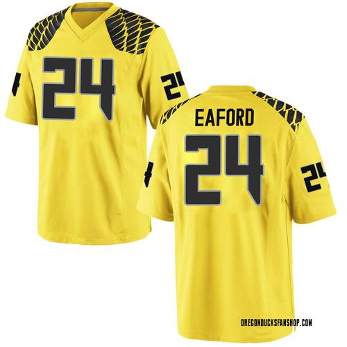 Men's Nike Ge'mon Eaford Oregon Ducks Game Gold Football College Jersey