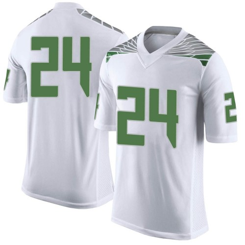 Men's Nike Ge'mon Eaford Oregon Ducks Limited White Football College Jersey