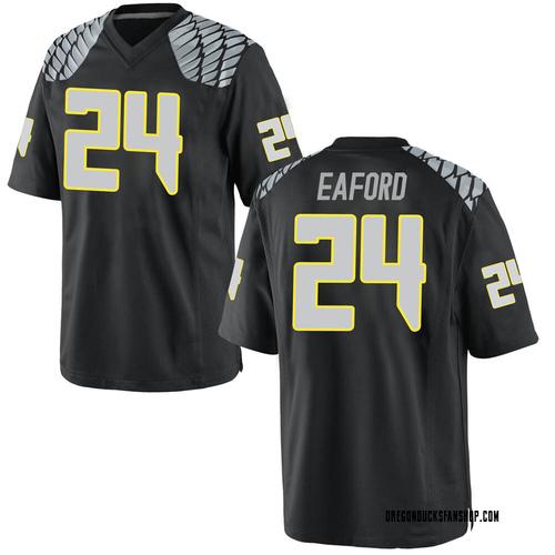 Men's Nike Ge'mon Eaford Oregon Ducks Replica Black Football College Jersey