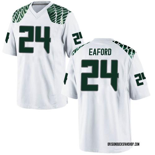 Men's Nike Ge'mon Eaford Oregon Ducks Replica White Football College Jersey