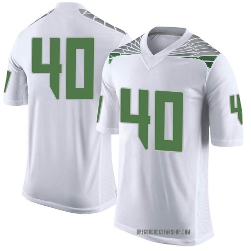 Men's Nike Harrison Beattie Oregon Ducks Limited White Football College Jersey