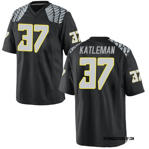 Men's Nike Henry Katleman Oregon Ducks Game Black Football College Jersey