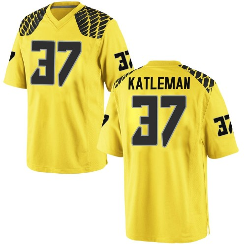 Men's Nike Henry Katleman Oregon Ducks Game Gold Football College Jersey