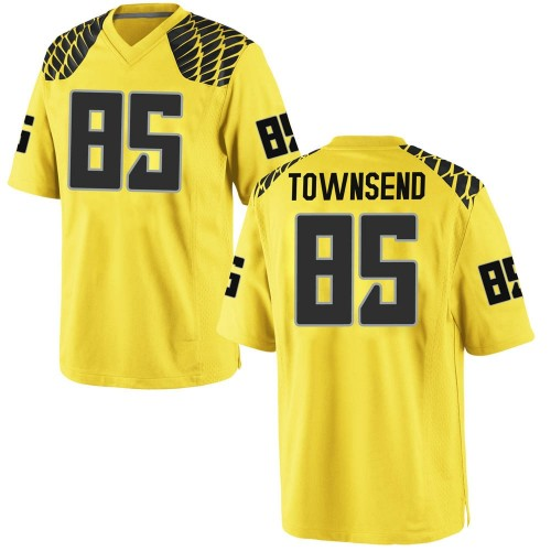 Men's Nike Isaac Townsend Oregon Ducks Game Gold Football College Jersey