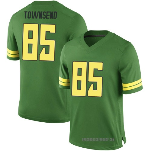 Men's Nike Isaac Townsend Oregon Ducks Game Green Football College Jersey
