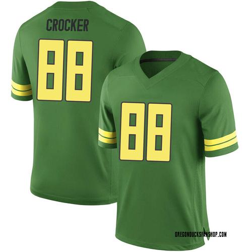 Men's Nike Isaah Crocker Oregon Ducks Game Green Football College Jersey