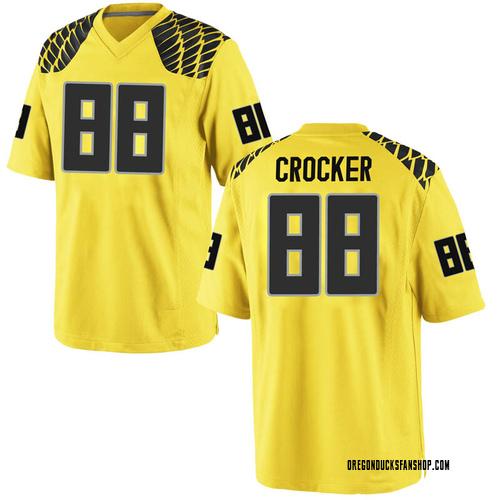 Men's Nike Isaah Crocker Oregon Ducks Replica Gold Football College Jersey