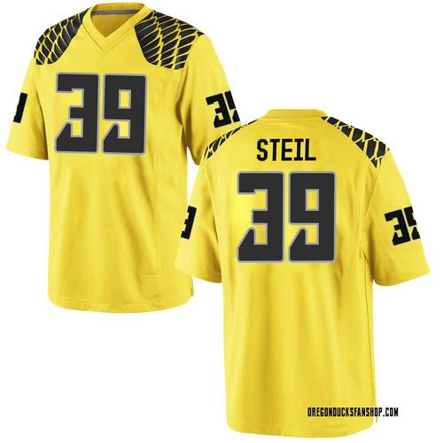 Men's Nike Jack Steil Oregon Ducks Game Gold Football College Jersey
