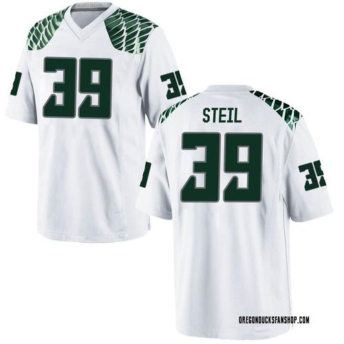 Men's Nike Jack Steil Oregon Ducks Game White Football College Jersey