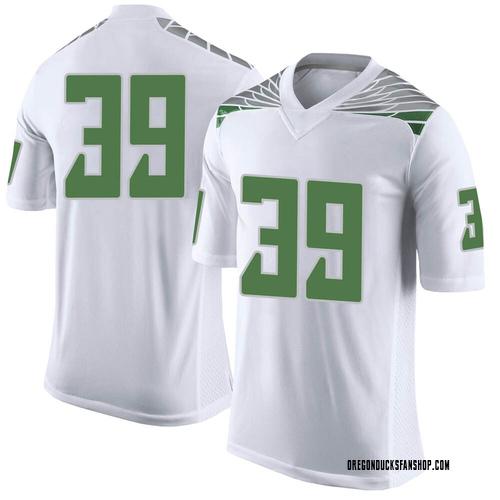 Men's Nike Jack Steil Oregon Ducks Limited White Football College Jersey