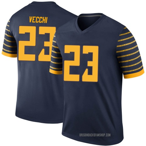 Men's Nike Jack Vecchi Oregon Ducks Legend Navy Football College Jersey
