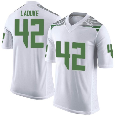 Men's Nike Jackson LaDuke Oregon Ducks Limited White Football College Jersey