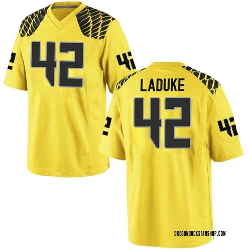 Men's Nike Jackson LaDuke Oregon Ducks Replica Gold Football College Jersey