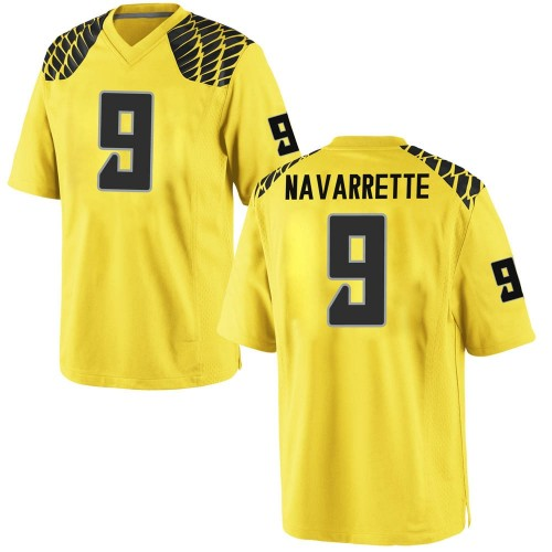 Men's Nike Jaden Navarrette Oregon Ducks Replica Gold Football College Jersey
