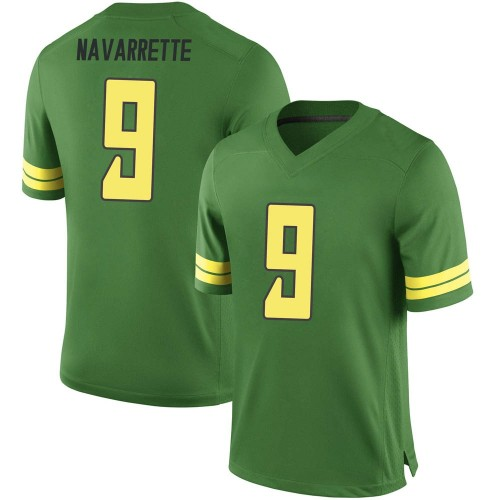 Men's Nike Jaden Navarrette Oregon Ducks Replica Green Football College Jersey
