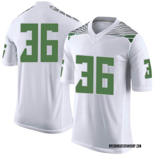 Men's Nike Jake Foggia Oregon Ducks Limited White Football College Jersey