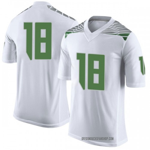 Men's Nike Jalen Hall Oregon Ducks Limited White Football College Jersey