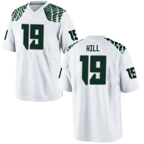 Men's Nike Jamal Hill Oregon Ducks Replica White Football College Jersey