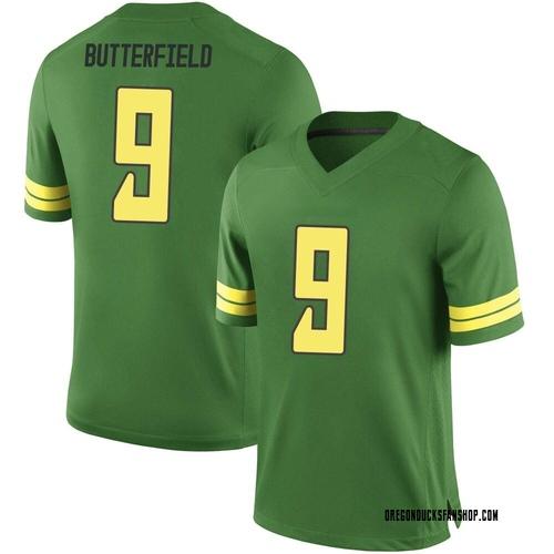 Men's Nike Jay Butterfield Oregon Ducks Game Green Football College Jersey