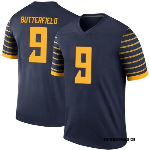 Men's Nike Jay Butterfield Oregon Ducks Legend Navy Football College Jersey