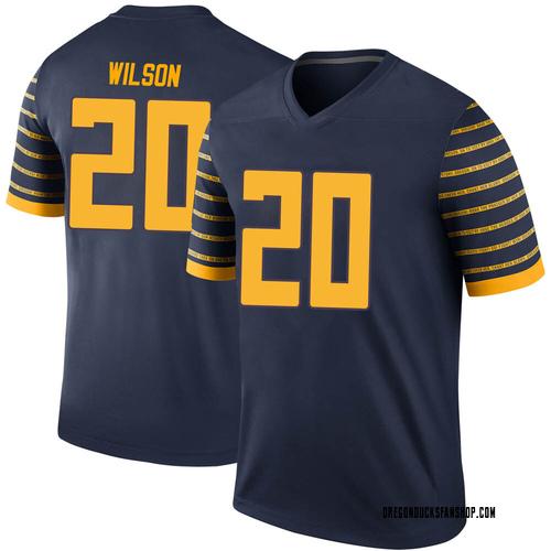 Men's Nike Jayvaun Wilson Oregon Ducks Legend Navy Football College Jersey